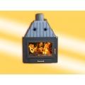 каминa на топъл въздух 20KW - Прав панел